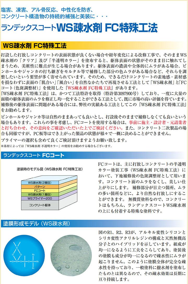 ランデックスコートWS疎水剤